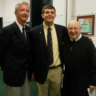 Dominic Fuecker, 2011 Marlatt Scholar with Mr. Barry Fitzpatrick, MSJ Principal and Brother James Kelly, CFX, MSJ President (d.)